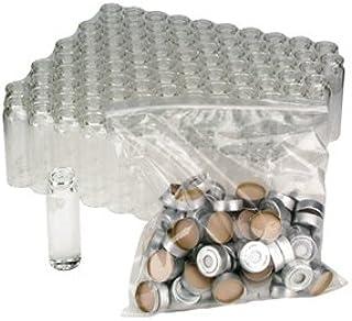 Wheaton 20mL Glass Headspace Vials, PTFE/Butyl Crimp Seals, Bulk Packaged, case/100