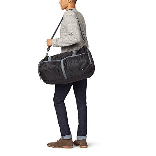 Amazon Basics Packable Travel Gym Duffel Bag - 23 Inch, Black Massachusetts
