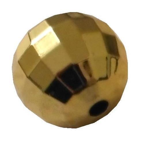 Perles Façettes Ø 6mm Plastique Couleur Dorée Lot De 50