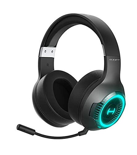 HECATE G33BT Bluetooth 5.0 Wireless Gaming Headset Low Latency RGB Headphone,Over Ear Soft Ear Cups Stereo Headsets, with 48H Playtime, Detachable Microphone