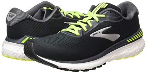 Brooks Mens Adrenaline GTS 20 Running Shoe - Black/Nightlife/White - D - 11