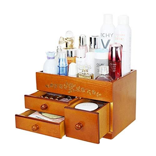SHIJIAN Veredeln Sie Bamboo Cosmetic Organizer, multifunktionales Aufbewahrungskarussell for Waschtisch, Bad, Schrank, Küche, Tisch, Arbeitsplatte und Schreibtisch