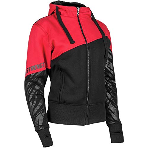 Speed and Strength Women's Cat Out'a Hell 2.0 Armored Hoody (Small) (Red/Black)
