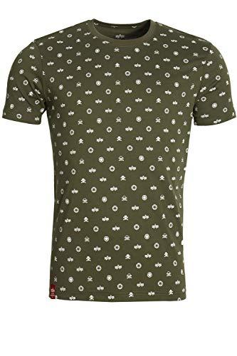 Alpha Industries Alpha Allover T-Shirt Dunkelgrün L