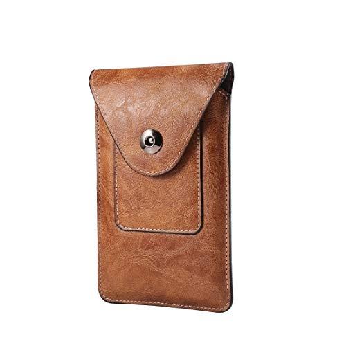 PHONETABLETCASE+ / Elefante Textura Hombres Ocio Simple Universal Teléfono móvil Paquete de Cintura Caja de Cuero con Ranura de Tarjeta, Adecuado teléfonos Inteligentes de 4.7-5.3 Pulgadas,Protección