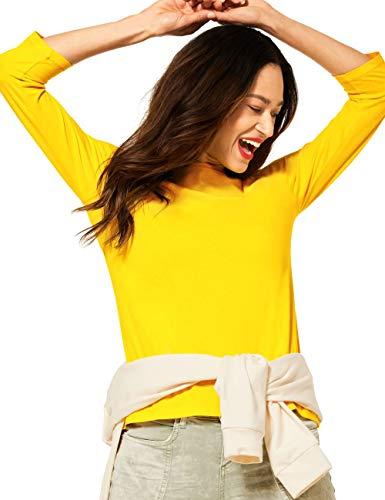Street One Damen 316012 T-Shirt, Sunlit Yellow, 44