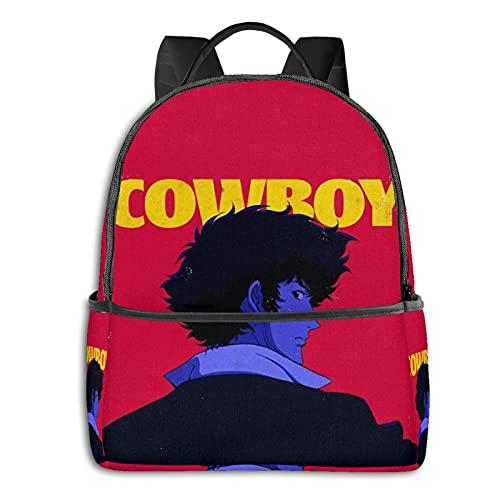 Cowboy Bebop - Mochila para adultos y niños, duradera, para viajes, escuela, portátil, escuela, trabajo, para hombres y mujeres, estudiantes universitarios, regalo para hombres