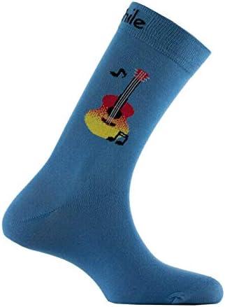 Homme Guitare Chaussettes Nouveauté Bleu Guitare Chaussettes paire