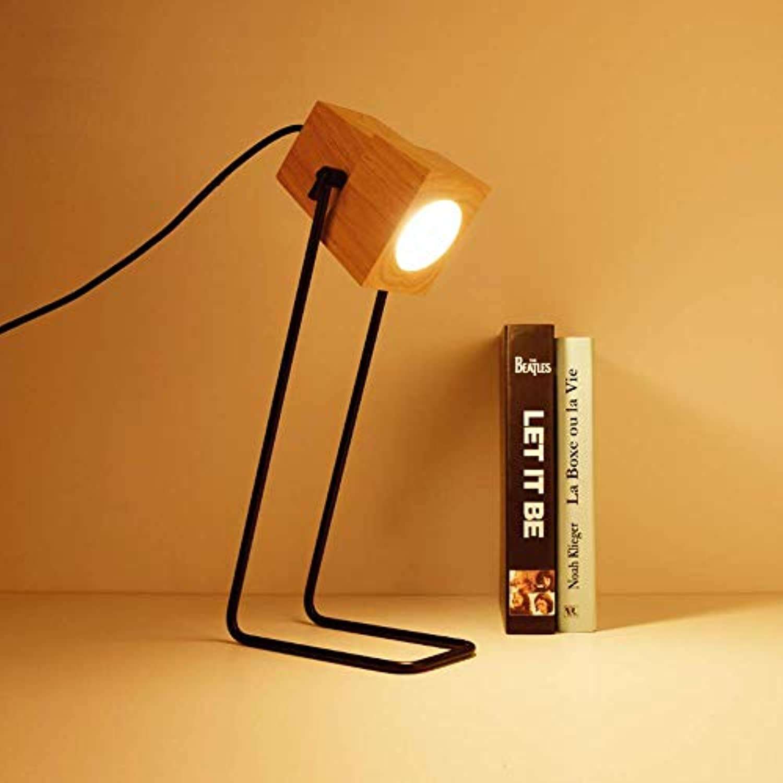 Gasfja Kreative Massivholz Lampe Wohnzimmer Bett LED Nachtlicht Lampe Tischlampe Schlafsaal Lampe Wohnzimmer Lampe Schlafzimmer Lampe