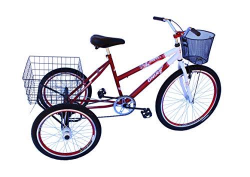 Triciclo adulto onix c/aero vermelho e guidão poty