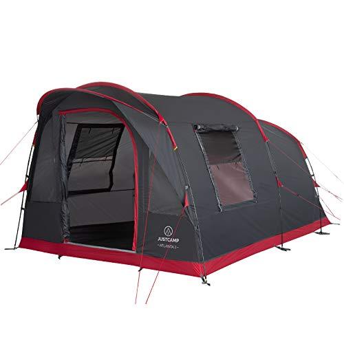 Justcamp Atlanta 3 tente familiale, tente tunnel pour 3 personnes, séjour debout, sol cousu...