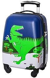 4. Lttxin Kids' Hardshell 18″ Dinosaur Suitcase