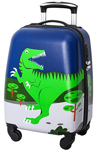 Lttxin Kids' Suitcase 18 inch Polycarbonate Carry On Luggage Lovely Hard Shell Boys Children travel (Dinosaur)