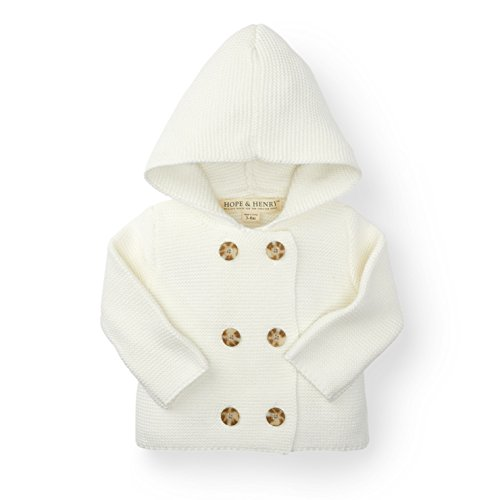 Hope & Henry Layette White Baby Sweater