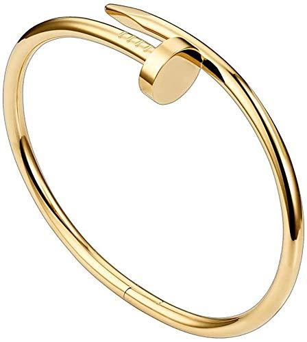 Tiny Shopping Pulsera de acero titanio para hombre con tornillos, para parejas, pulseras, Laca,