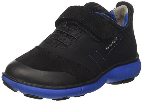 Geox Jungen J Nebula Boy A Sneaker, Schwarz (Black/Royal), 29 EU