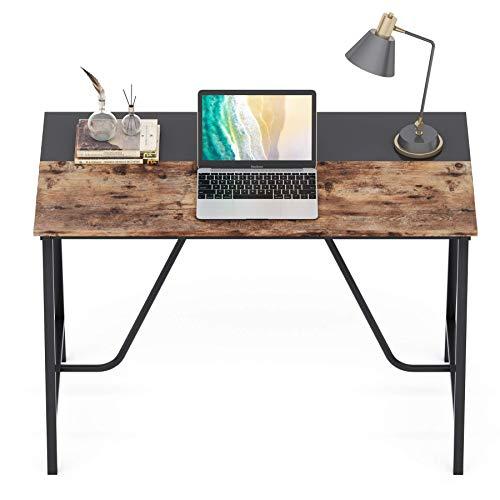 Tribesigns Schreibtisch Computertisch Arbeitszimmer, PC Tisch Bürotisch, Kleiner im Industriestil Schreibtisch für Homeoffice, einfacher Aufbau, leicht zu montieren