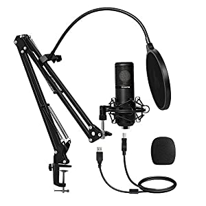 USB Microphone 25mm Large Diaphragm MAONO AU-PM430 Cardioid Condenser Podcast Mic with Professional Sound Chipset for Studio/Home Recording, Gaming, Streaming, YouTube, Chatting