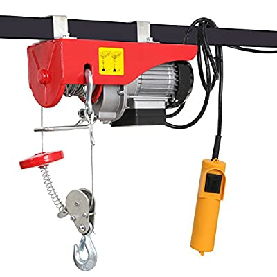 F2C 440 / 880LBS Overhead Lift Electric Hoist Crane Industrial Commercial Chain Winch Wire Cable Hoist Garage Auto Shop W/Remote Control