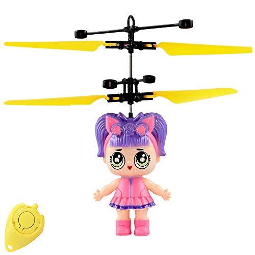 Freaky LoLa Cute Doll - Muñeca voladora con ojos LED extra claros, fácil de controlar, ideal como regalo para niñas pequeñas y grandes