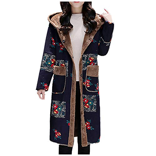 Purchase Meet&sunshine,2019 New Women's Autumn and Winter Ladies Cotton Linen National Wind Hooded P...