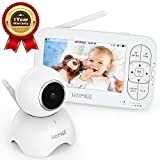 HOMIEE Video Baby Monitor, with 720P Digital Camera, 5' LCD Screen up to 1000 Ft Range, Remote Camera Pan-Tilt-Zoom, Night Vision, Lullabies, Two-Way Audio Talk, Sound Temperature Alarm, Feeding Timer