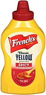 French's Classic Yellow Flavored Mustard, Spicy with Cayenne Pepper, 14oz, Pack of 3