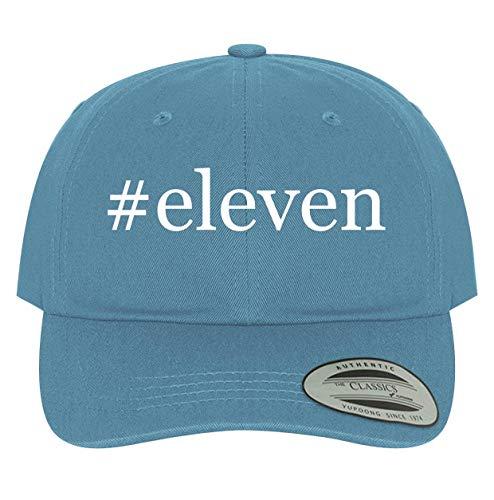 BH Cool Designs #Eleven - Men's Soft & Comfortable Dad Baseball Hat Cap, Light Blue, One Size