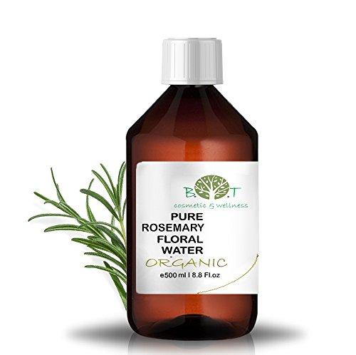 Eau Florale Organique de Romarin Hydrolat 100% Pure 500 ml Lotion Peau Sensible, Lotion Bébé, Lotion Après Rasage, Lotion Après Épilation.