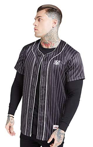 Camisa Manga Corta Siksilk Original Baseball Jersey Negro S