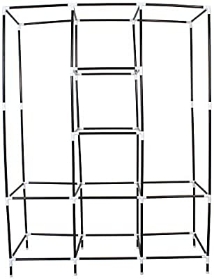 HOUZIE Portable Foldable Wardrobe Cabinet Almirah Collapsible Storage or Baby/Kids/Adult (Random Colour, 70-inch)
