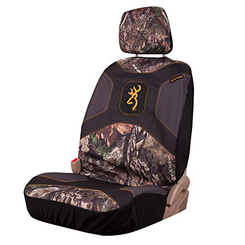 Browning Camo Low Back Seat Cover, Mossy Oak Break-Up Country Camo, Single