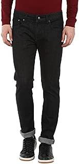 AMERICAN CREW Men's Slim Fit Black Jeans Stretchable