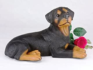 King Products Rottweiler Cremation Pet Urn for secure installation of your beloved pet's ashes indoors or outdoors.