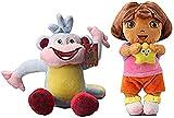 Nucifer 2 Pack of Dora The Explorer Plush Dora & Monkey Stuffed Animals Figure Soft Anime Collection Toy (11.5''/9'')