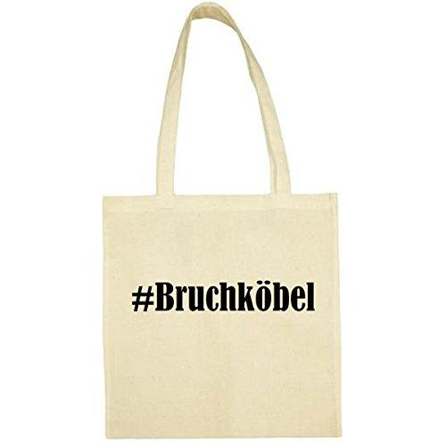 Tasche #Bruchköbel Größe 38x42 Farbe Natur Druck Schwarz