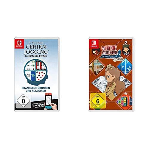 Dr. Kawashimas Gehirn-Jogging - [Nintendo Switch] + Layton`s Mystery Journey: Katrielle und die Verschwörung der Millionäre – Deluxe - [Nintendo Switch]