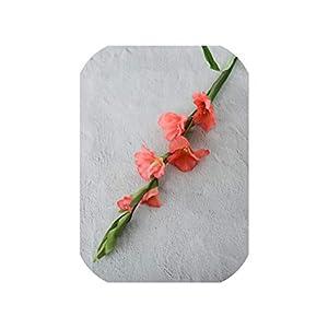 NA 99Cm 6 Heads Artificial Gladiolus Decor Home Garden Wedding Flower Arrangement Gladioli Fake Plant Silk Red White Pink