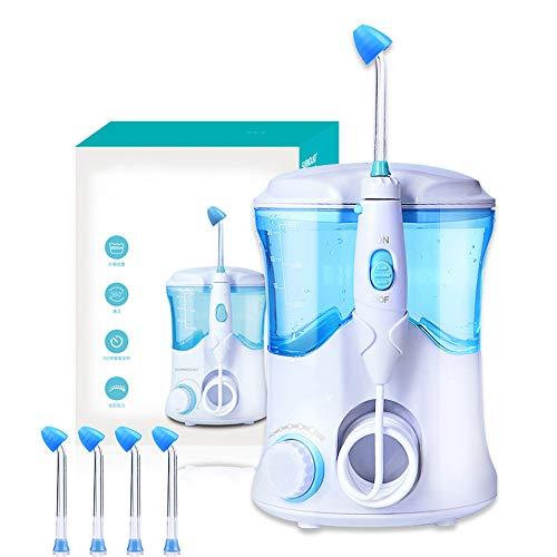 WUHX Elektrisches Nasenspülgerät - mit 4 Düsen 600 ml großvolumiger Nasenspülbecken 30-125PSI Wasserdruck 3 Minuten intelligentes Timing - für Erwachsene und Kinder