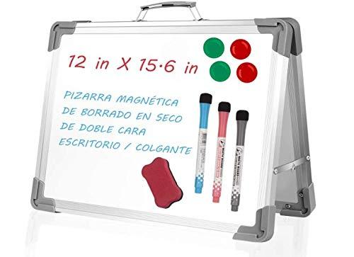 StillCool Pizarras Magnéticas Doble Lados, pizarra blanca plegable de 40 × 30 cm, para niños con 3 bolígrafos, 4 imanes y 1 borrador, utilizada para escribir, dibujar, oficinas escolares y tiendas
