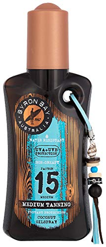 Byron Bay Coconut Oilspray SPF 15 | huile de bronzage noix de coco SPF 15 | 200ml