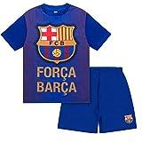 FC Barcelona - Pijama Corto para niño - Producto Oficial - Azul - 4-5 años