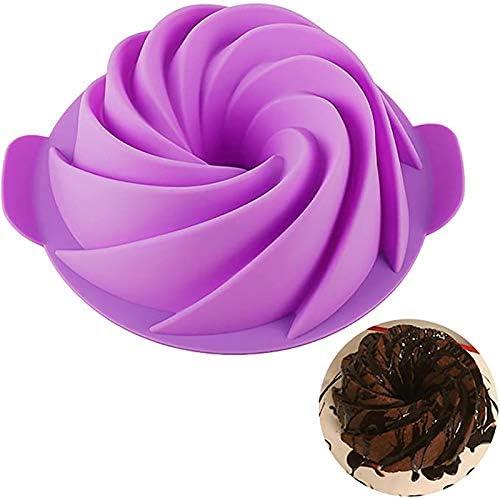 CEVENT 1PC Spiral Baking Molds Purple Bundt Cake Pan Kitchen Bakeware Moldes Para reposteria product image