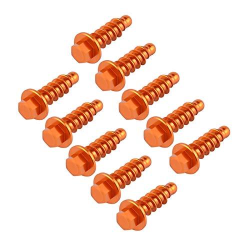 Yayan YAYANGG 10pcs Dirt Bikes Auto Tockping Tornillo Kit Fit para KTM Exc Excf XC XCF SX SXF TPI Seis días 125 250 300 350 400 450 500 1997-2021 (Color : Orange)