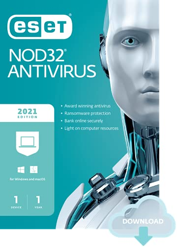 Eset nod32 antivirus | 2021 edition | 1 device | 1 year | antivirus software | gamer mode | small system footprint | official download with license