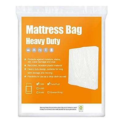 BYSURE Heavy Duty Mattress Bag for Moving & Long Term Storage, 3D Envelope Shape