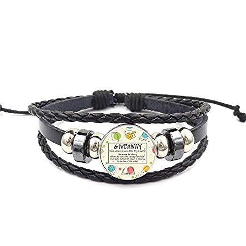 lianglimin Halskette Carpe Librum Buch Zitat Harajuku Schmuck Glas Cabochon Schwarz Leder Armband Armreif Für Frauen