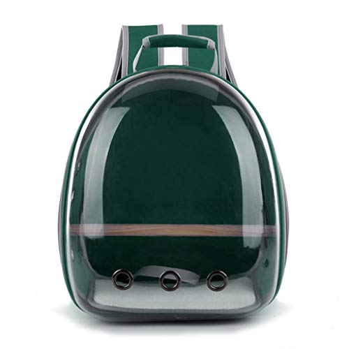 Transparent Pet Backpack Breathable Parrot Bird Carrier Bag Space Capsule for Travel Walking Outdoor 360° Sightseeing