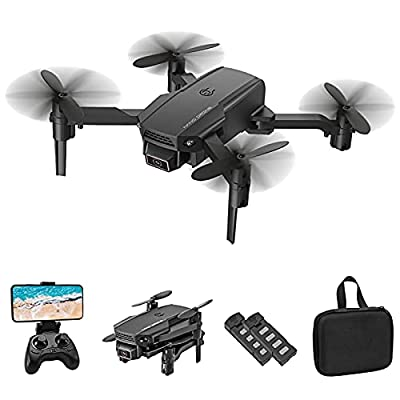 Eilsorrn Foldable Mini Drone with 4K HD Camera for Kids Adults WiFi FPV RC Quadcopter with 3D Flips, Gesture Control, Altitude Hold, Headless Mode, G-Sensor, One Key Return, 3 Batteries Pack
