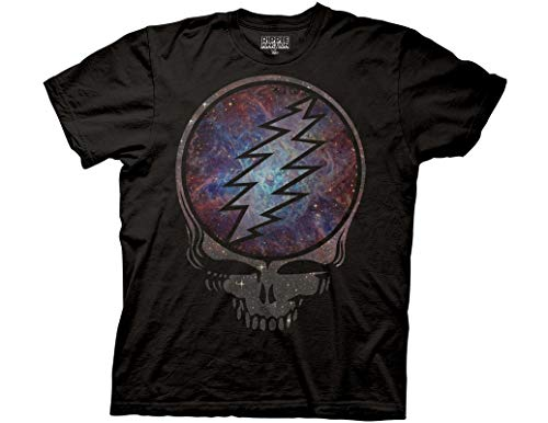 Ripple Junction Grateful Dead Adult Unisex Cosmic Photograph Light Weight 100% Cotton Crew T-Shirt SM Black